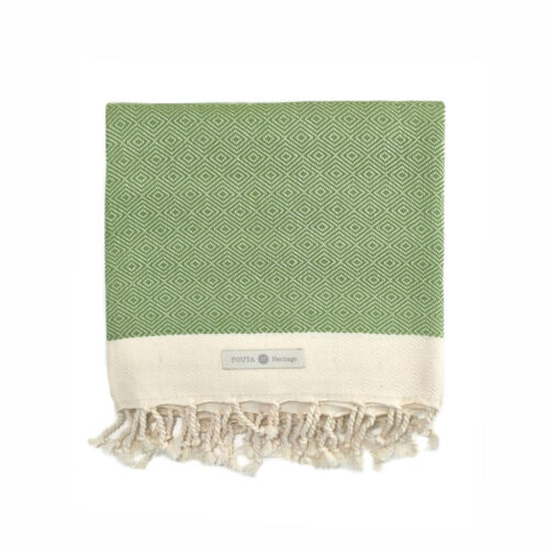 Fouta diamante green