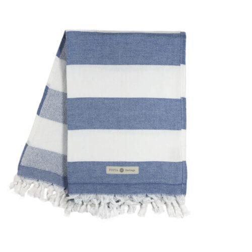 fouta toalha azul marinho